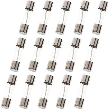 50Pcs Glass Tube Fuse 5mm x 20mm 3A T3A 250V Slow Blow 3Amps