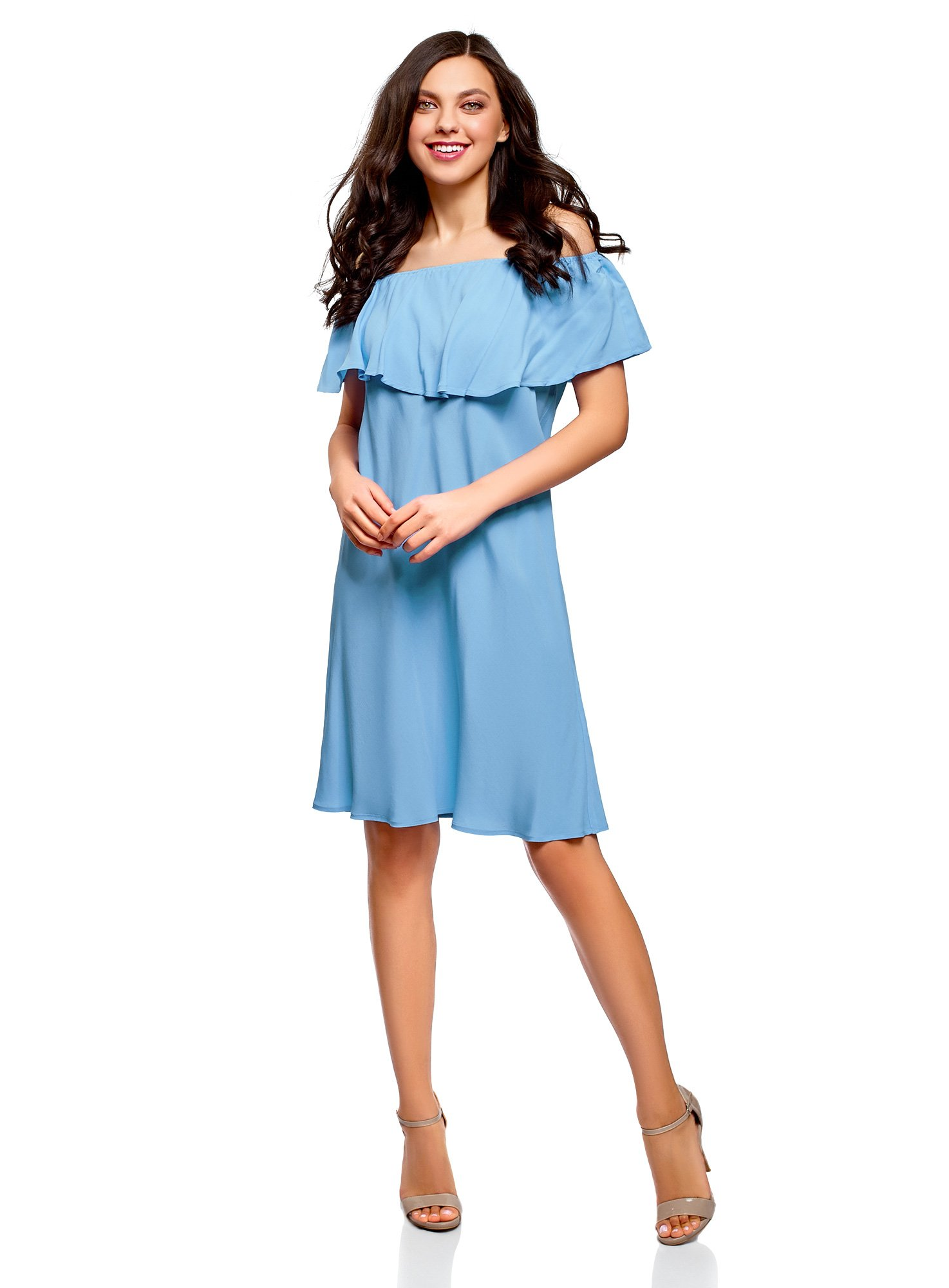 Available at Amazon: oodji Ultra Women's Off-Shoulder Viscose Dress