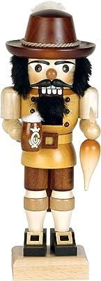 """Alexander Taron Importer 32-635 Christian Ulbricht Nutcracker - Bavarian (Natural) - 10"""" H x 4"""" W x 3"""" D, Brown"""