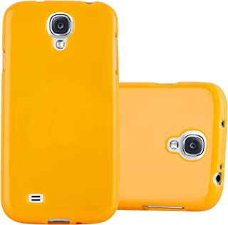 Cadorabo Case Works with Samsung Galaxy S4 in Jelly Yellow – Shockproof and Scratch Resistant TPU Silicone Cover – Ultra Slim Protective Gel Shell Bumper Back Skin