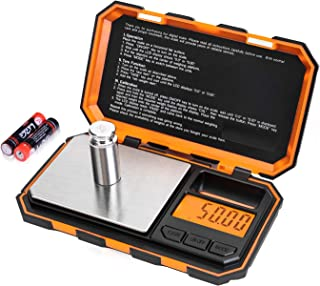 Fuzion Digital Pocket Scale, 200g x 0.01g Jewelry Gram Scale, 6 Units Conversion Mini Scale with LCD Display, Tare Function for Food, Jewelry, Medicine, Coffee (Battery Included)
