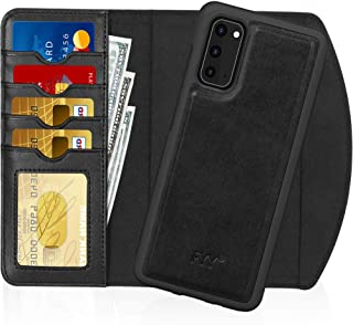 "FYY Case for Galaxy S20 6.2"", 2-in-1 Magnetic Detachable Wallet Case [Wireless Charging Support] with Card Slots Folio Cas..."
