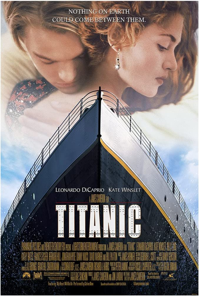 """Amazon.com: Titanic Movie Poster (Leonardo DiCaprio) - Size 24"""" X 36"""" -  This is a Certified PosterOffice Print with Holographic Sequential  Numbering for Authenticity.: Posters & Prints"""