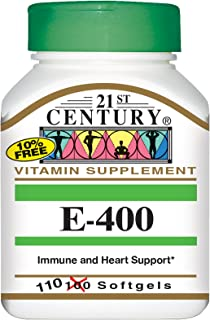 21st Century E-400 IU Vitamine Softgels - 110 Capsules