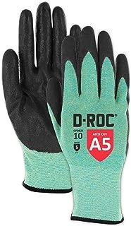 Magid D-ROC GPD824 Ultra-Lightweight Polyurethane Palm Coated Work Gloves – Cut Level A5 (1 Pair)