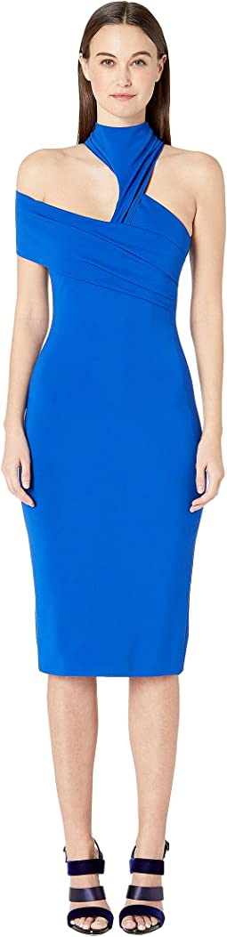 Sleeveless Pencil Dress with Band at Right Arm
