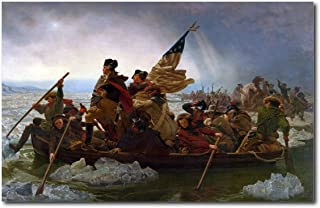 Young N Refined George Washington's Crossing of The Delaware River Very Large Size high qulity Print Home Decor Reproduction (22x32)