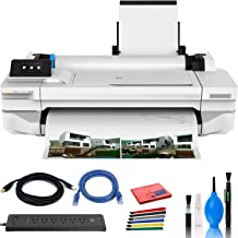 "$1089 » HP DesignJet T130 24"" Large Format Printer - Color Ink Jet - (#5ZY58A#B1K) with Power Strip + Printer Cable + Cat5 Cable +..."