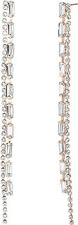 Women's Long Rhinestone Chain Drop Earrings