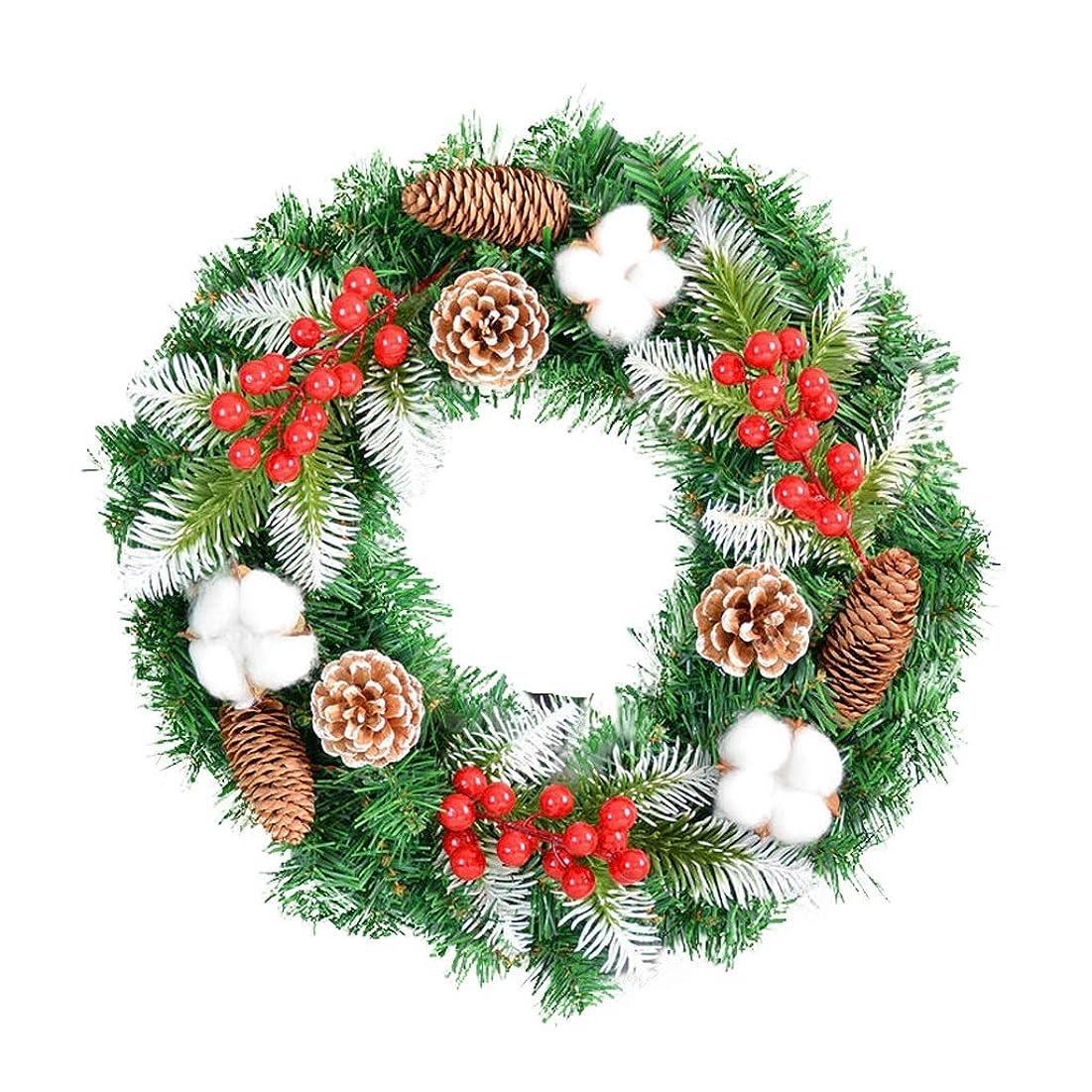 ハドル思春期なんとなくHN クリスマスリース、クリスマスの装飾、ドアマテリアルを吊るす、クリスマスツリーの装飾、40cm50cm60cmオプション (Color : Without lights, Size : 50x50cm)