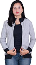 CARBON BASICS All Weather Cotton Waffle Jacket with High Neck Collar & Zipper for Womens & Girls