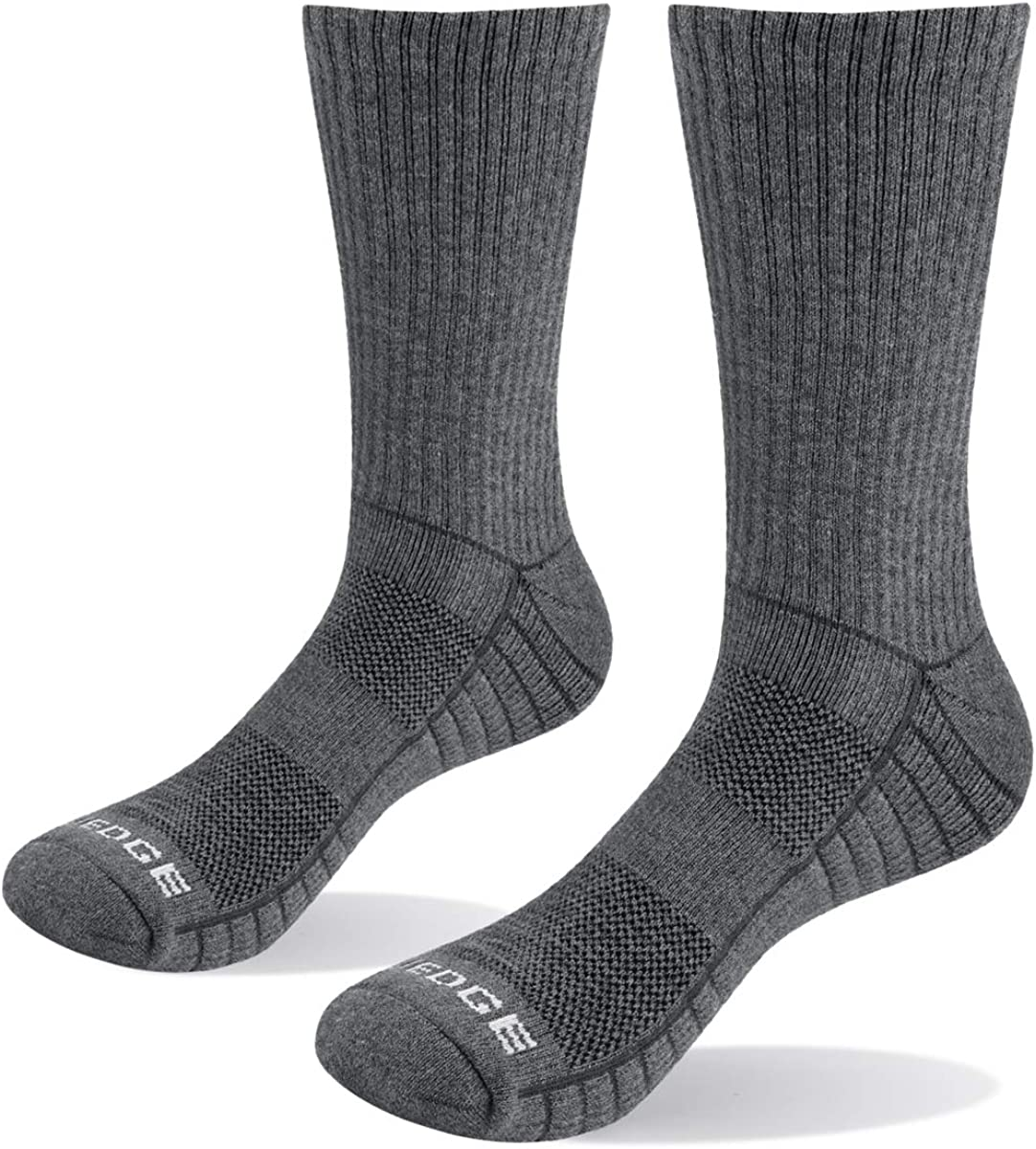 YUEDGE Mens 5 Pairs//Pack Athletic Sports Workout Socks Performance 6-9//9-11//11-13 Moisture Wicking Cotton Cushion Crew Socks