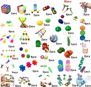 90 sets of sensory toys, Fidget toy set, which can relieve stress and anxiety of adults and children, stools, mazes, gyros...