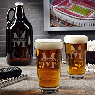 Oakmont Custom Beer Glasses and Growler (Personalized Product)