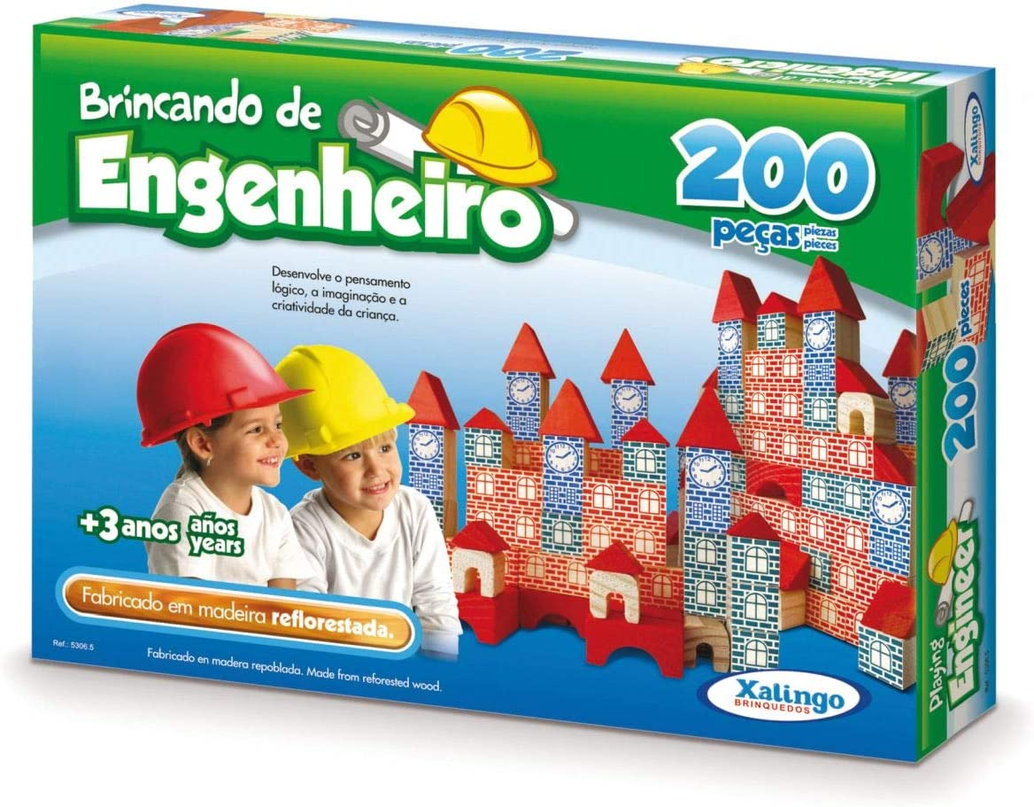 Jogo Brincando de Engenheiro, da Xalingo Multicor