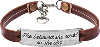 Yiyang Leather Bracelets Jewelry for Women Inspirational Bracelets Gift for Her