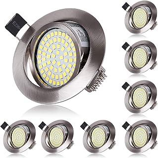 Spot LED Interieur Encastrable Blanc Froid 6000K Orientable 5W Extra Plat Rond 220V IP20 Éclairage Plafond Encastré pour C...