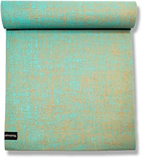 EcoStrength Aqua Light Blue Hemp and Jute Yoga Mat Eco-Friendly Non-Toxic Organic Jute and Hemp - Anti-Slip Anti-Bacterial...