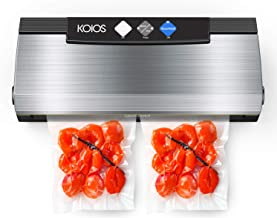 KOIOS Vacuum Sealer Machine, 80Kpa Automatic Food Sealer with Cutter for Food Savers, 10 Sealing Bags (FDA-Certified), Wit...