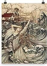 Retrograde Ink Arthur Rackham - Undine - Norse Mythology Viking Illustration Vintage Artwork Poster Print Painting