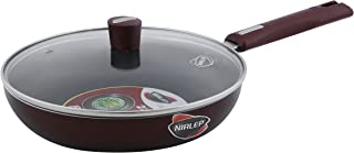 Nirlep by Bajaj Electricals Selec+ J Class 24 Cm Non Stick Fry Pan with Lid, 3 mm