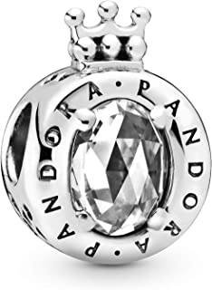 Pandora Jewelry Sparkling Crown O Cubic Zirconia Charm in Sterling Silver