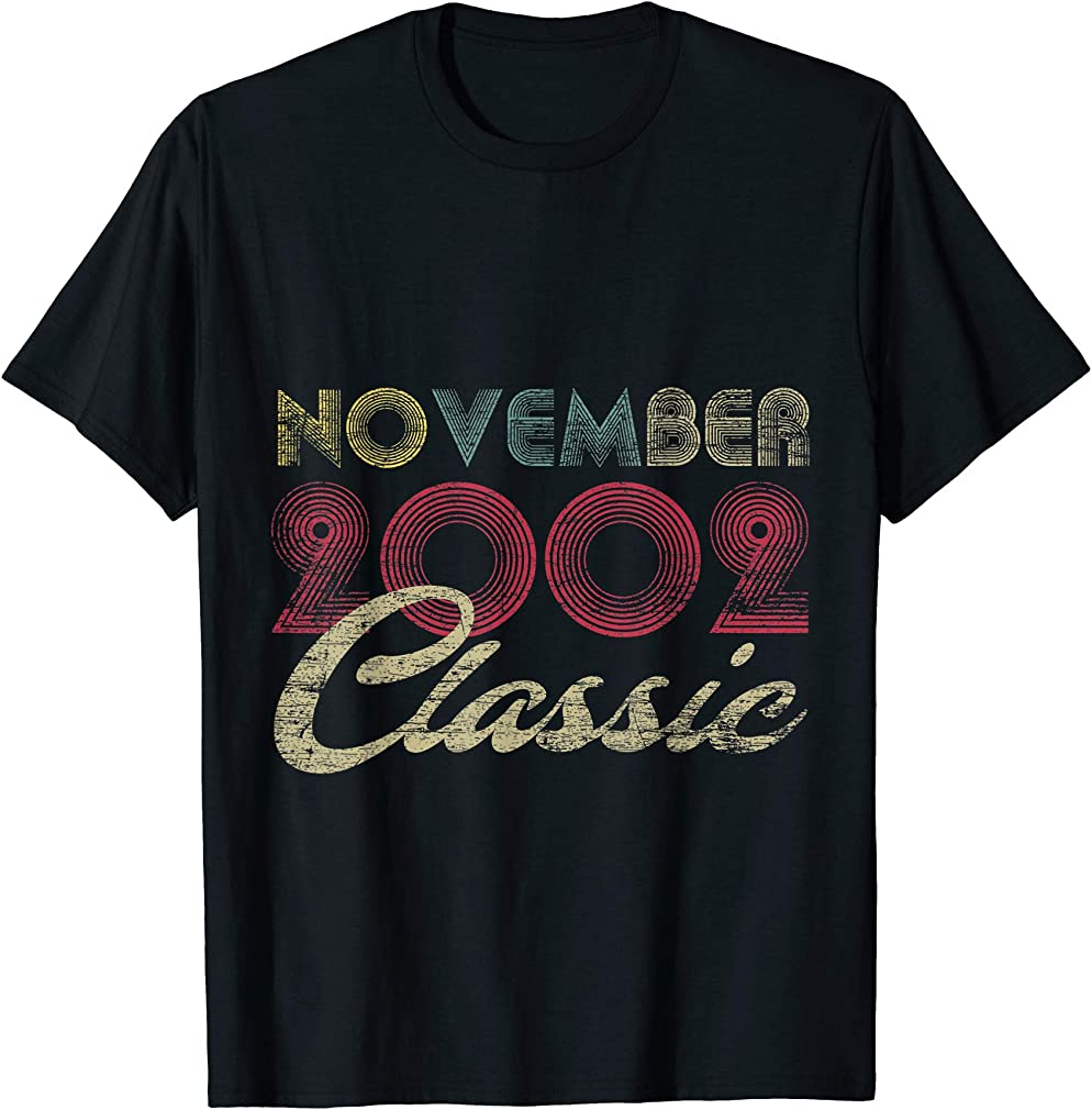 Classic November 2002 Bday Men Women Gifts 18th Birthday T-shirt