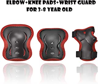 GASACIODS Kids/Child Knee Pad Elbow Pads Protective Gear , Colorful Shell Fabric Thickened Unzerbrechlich Design, Wrist Guards Pads Set for Skateboard Inline Roller Skate Cycling Bike