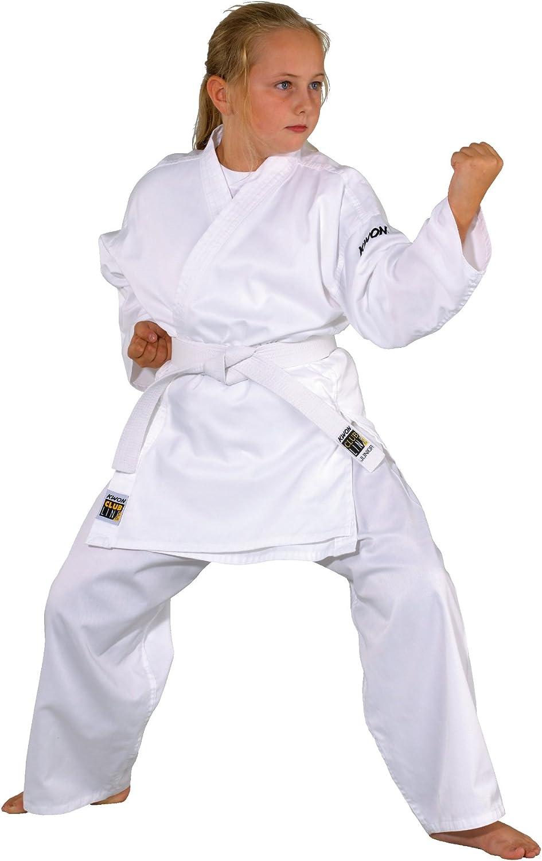 Kwon Karate Basic - Kimono de Artes Marciales Infantil, tamaño 100 cm, Color Blanco