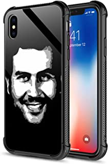 iPhone Xs Max Case,Tempered Glass iPhone Xs Max Cases Smiling Man 2 for Women Girls Boys,Pattern Design Shockproof Anti-Sc...
