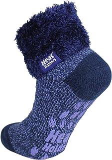 Warm Winter Thermal Lounge Socks - Navy Mauve Twist/Nordic Tale
