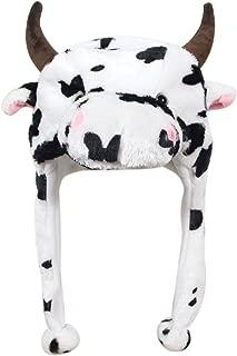 plush cow hat