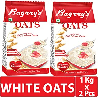 Bagrry's White Oats, 1kg, Pack of 2