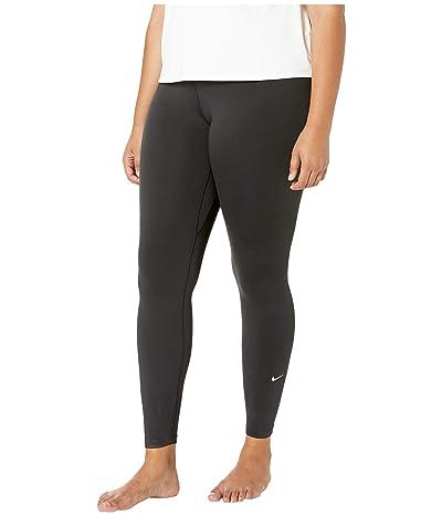 Nike One Tights (Sizes 1X-3X) (Black/White) Women