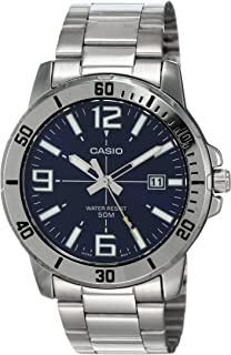 Casio MTP-VD01D-2BV Men's Enticer Stainless Steel Blue...