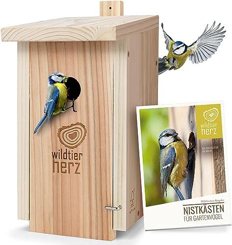wildtier herz Nichoir Oiseaux Exterieur pour Ménagère & Co. - Maison Oiseaux, Nichoir en Bois, Nichoir Mésange - Nich...