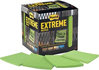 Post-it Extreme Notes, Works outdoors, Removes cleanly, 100X the holding power, Green, 3x3 in, 12 Pads/Pack, 45 Sheets/Pad...