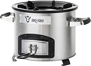 BBQ-Toro Rocket Stove RAKETE #1 - Portable Biomass, Wood Burning and Charcoal Survial Camp Stove for Camping and Outdoor