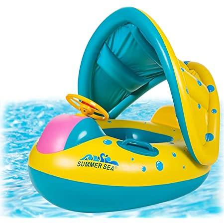 Summer Outdoor Pool Toys Float Raft for Baby Children Baby Pool Float Cartoon Inflatable Boat Children Inflatable Swimming Pool Loungers