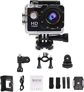 DMG 1080 Action Camera Waterproof Sports Helmet Cam with Mounting Accessories Kit (1080P Full HD)