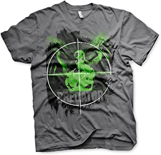 Officially Licensed Predator Crosshair Mens T-Shirt (Dark-Grey)