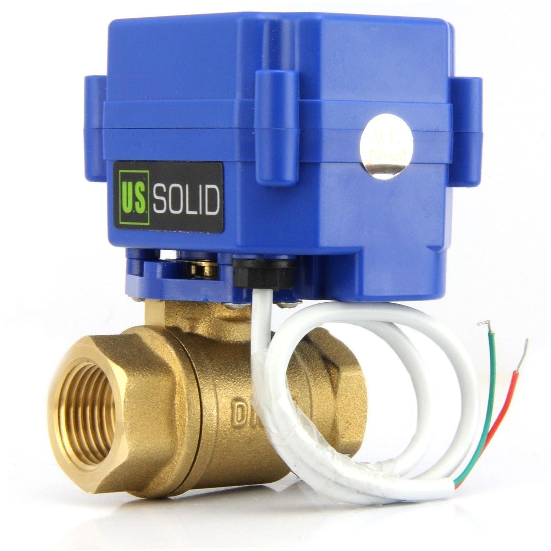 U.S. Solid Válvula de bola motorizada normalmente abierta - Válvula de bola eléctrica de latón de 1/2