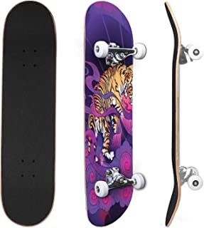 Classic Concave Skateboard Cute character sleeping cloud Dark blue sky and white cloud Good Canadian Maple Trick Skateboar...