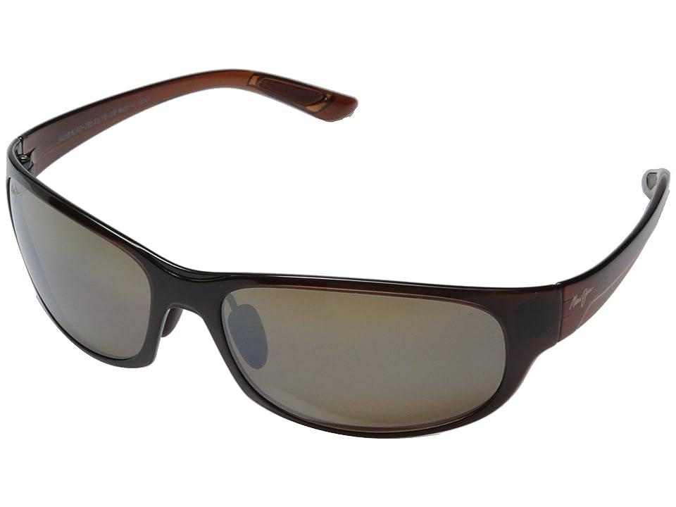 Maui Jim Twin Falls (Rootbeer Fade/HCL Bronze) Sport Sunglasses
