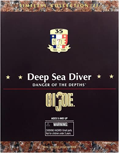 100% autentico G.I. Joe Deep Sea Diver Danger of of of the Depths 12 Action Figure by Hasbro  alta calidad general