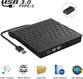 USCVIS portable usb 3.0 lecteur dvd externe et ultra slim usb c cd / dvd rw graveur pour..