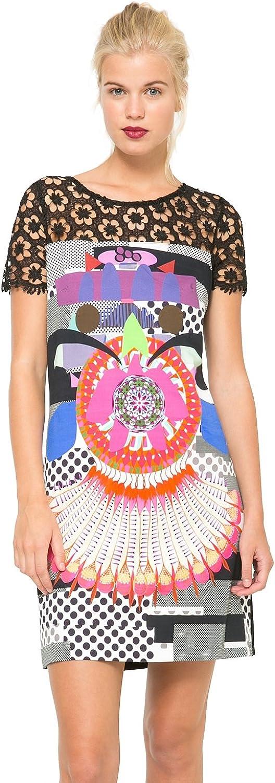 Desigual Women's Woven Dress Short Sleeves