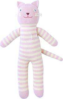 Blabla Rose The Cat Plush Doll - Knit Stuffed Animal for Kids. Cute, Cuddly & Soft Cotton Toy. Perfect, Forever Cherished. Eco-Friendly. Certified Safe & Non-Toxic.