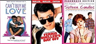 Most Popular Girl on Campus Retro Teen Movies Totally 80's Sixteen Candles / Ferris Bueller's Day Off / Can't Buy Me Love DVD Fun movie Set Three School Pack Film Feature Bundle