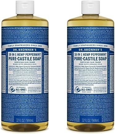 Dr. Bronner's Pure-Castile Liquid Soap Value Pack - Peppermint 32oz. (2 Pack)